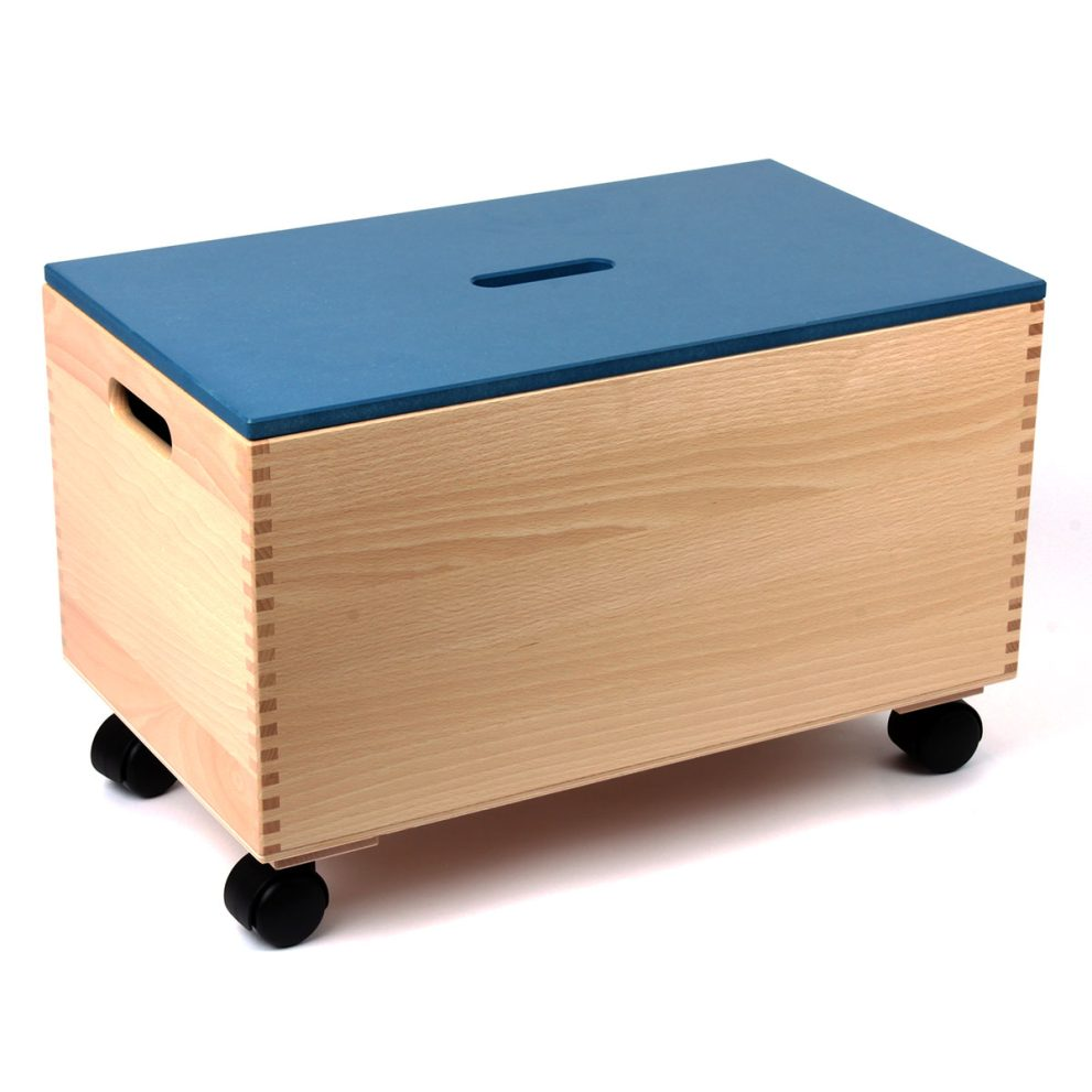 Bausteinwagen mit blauem Deckel