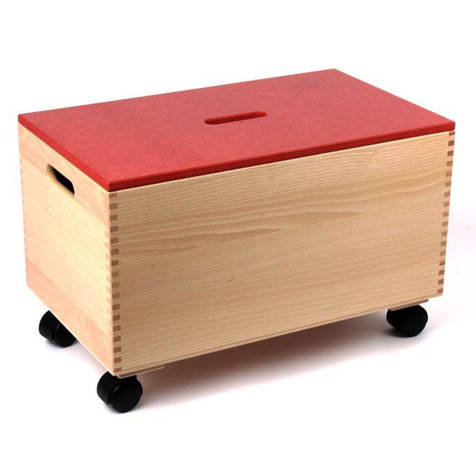 Bausteinwagen mit rotem Deckel
