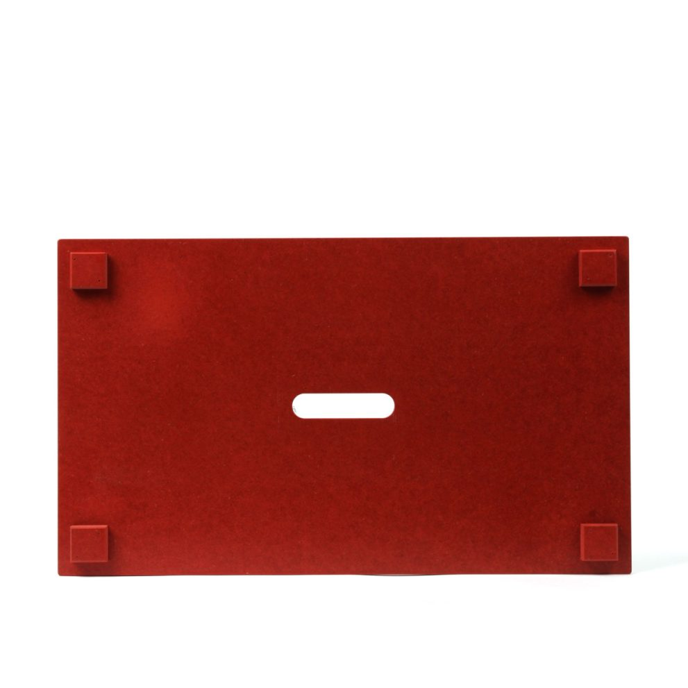 Holzdeckel rot