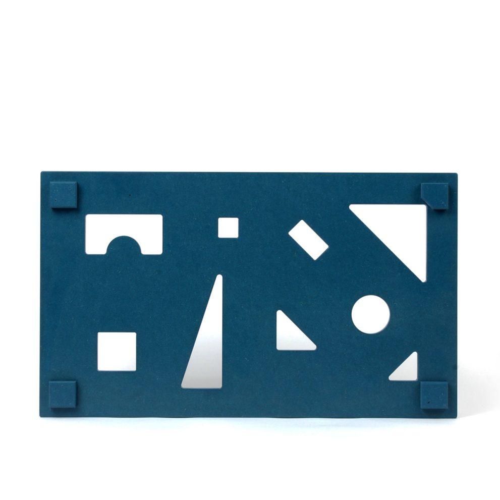 Puzzlededeckel blau