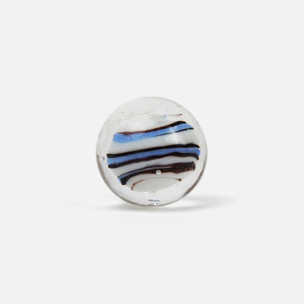 25 mm Glasmurmel Hummel blau