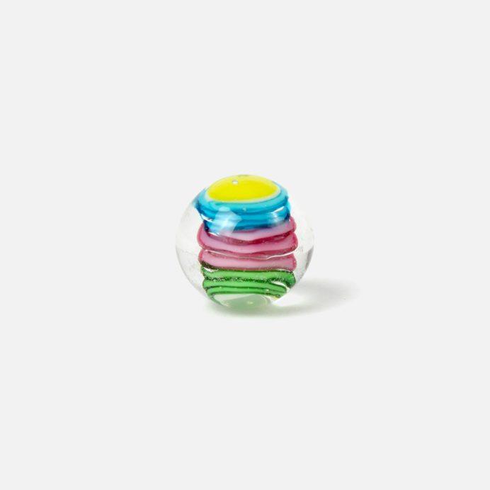 16 mm Glasmurmel Schnörkel