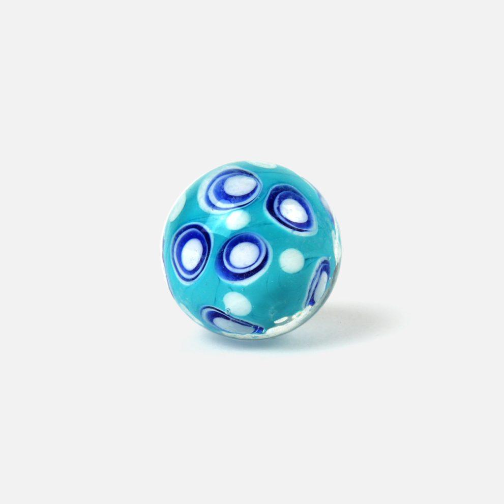 22 mm Glasmurmel Austernbucht blau