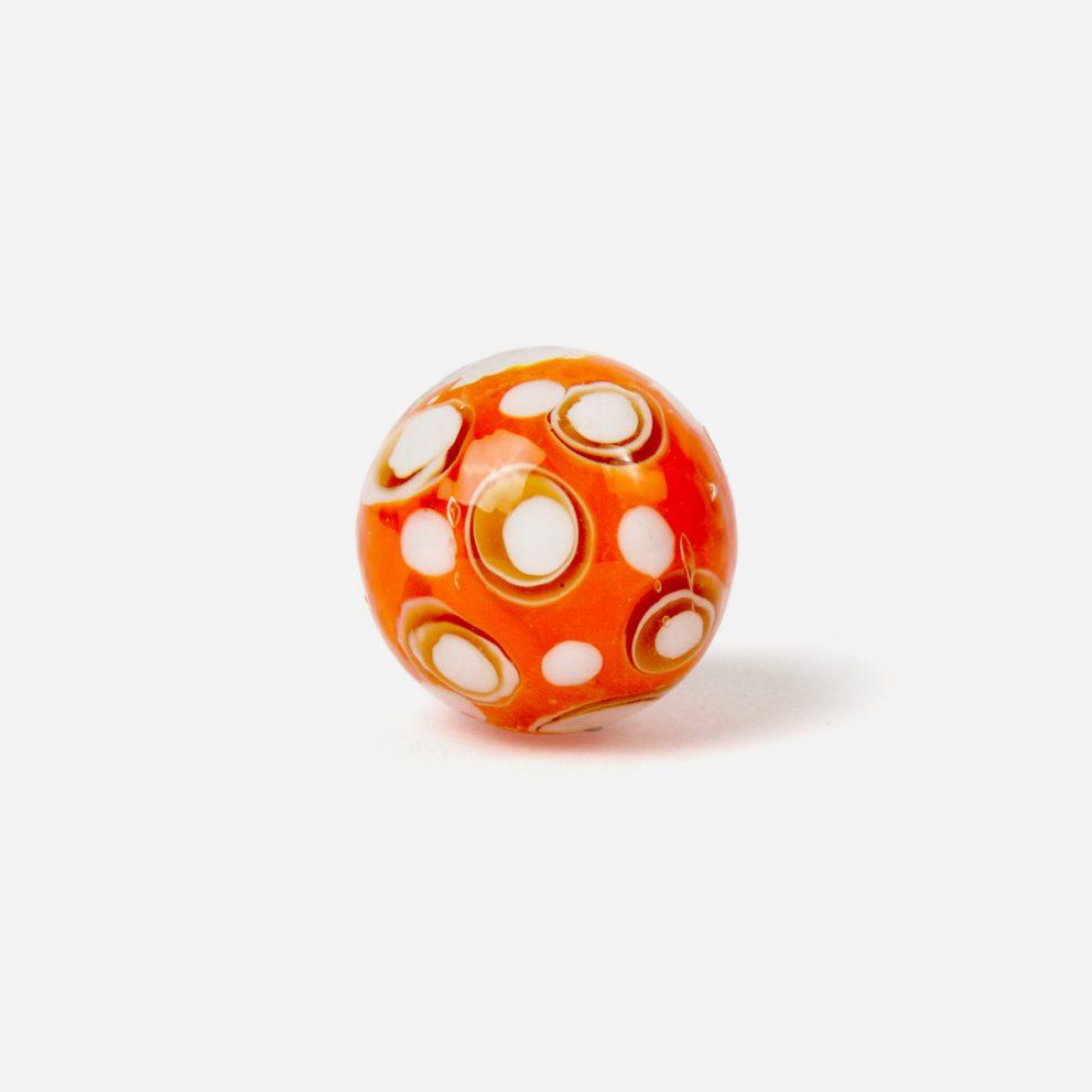 22 mm Glasmurmel Austernbucht orange
