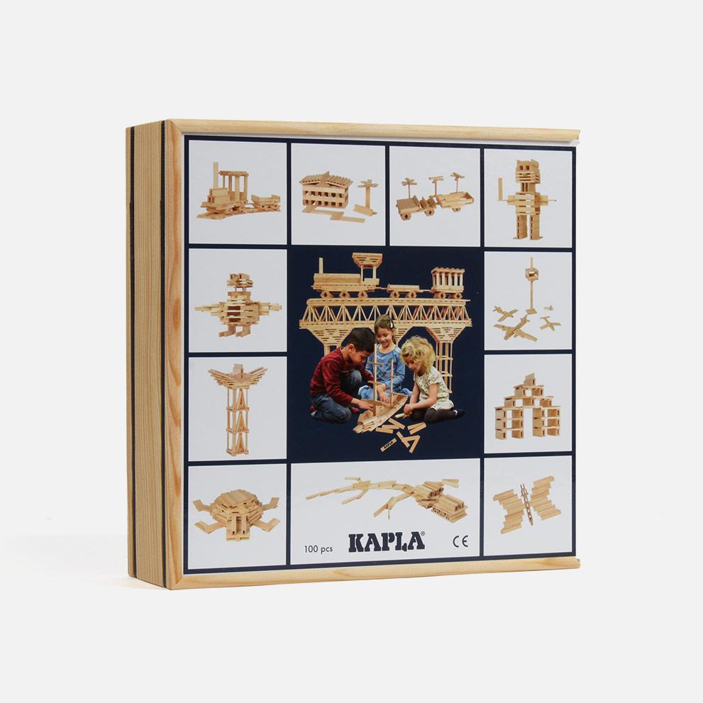 Kapla 100 Bausteine natur Verpackung