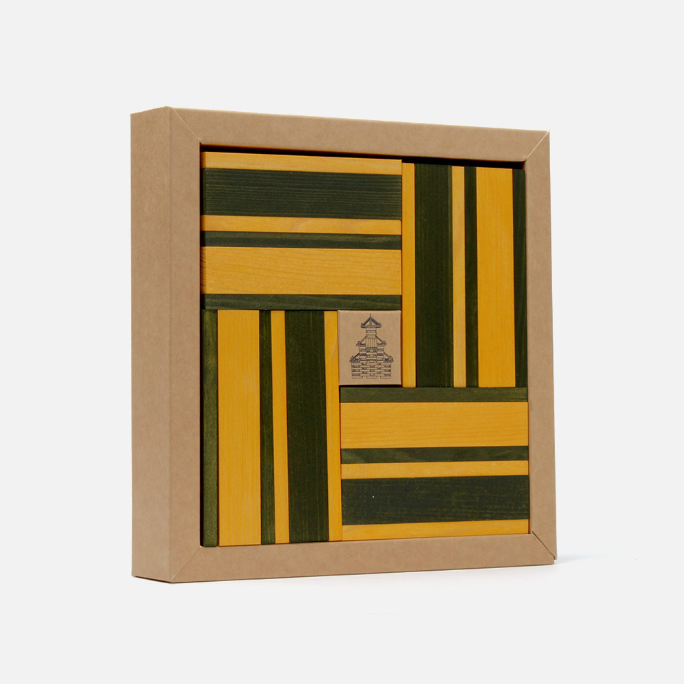 Kapla N°23 (gelb - grün)