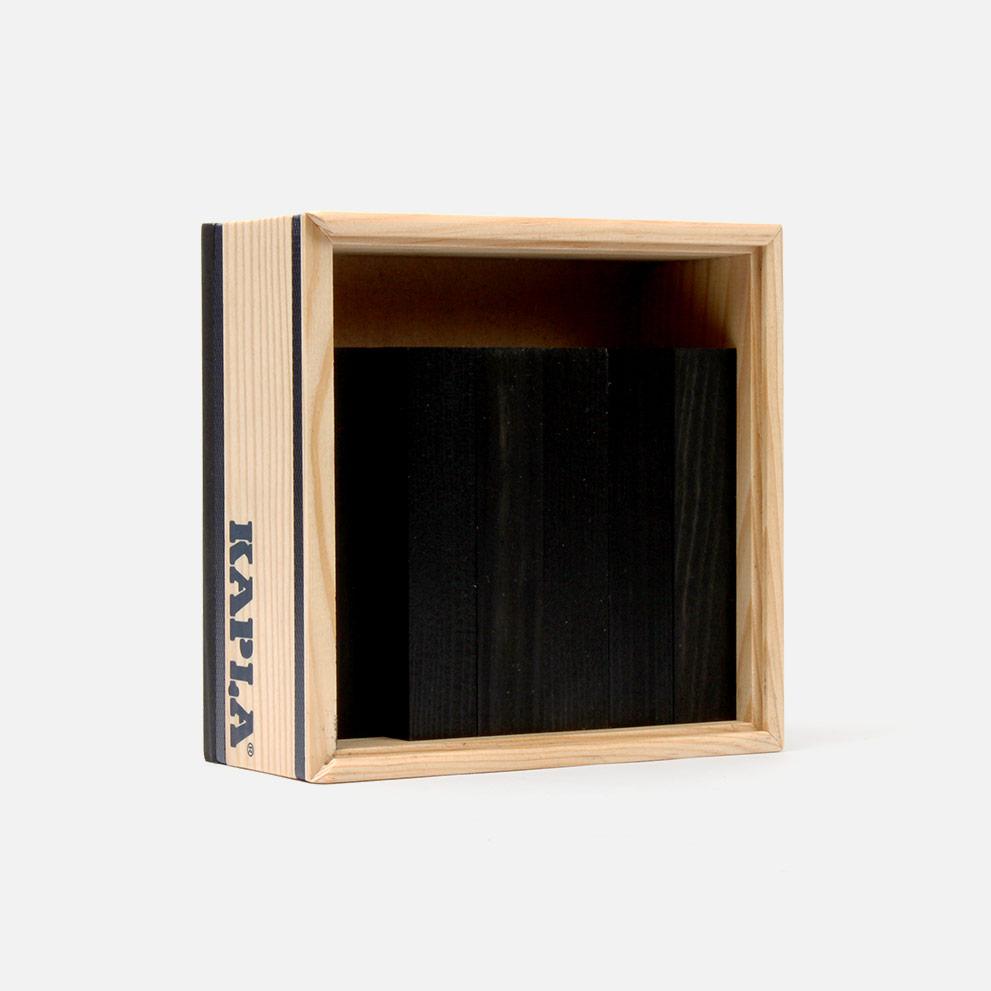 Kapla 40 Bausteine schwarz