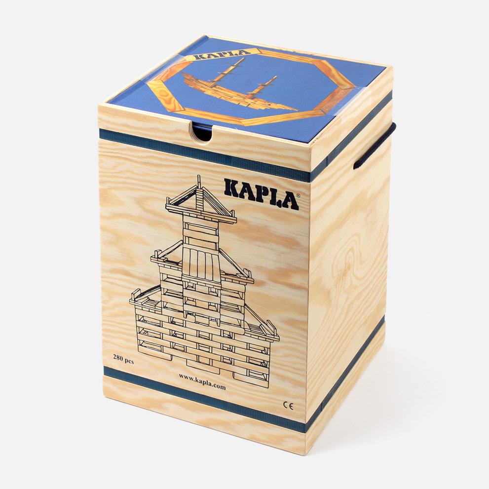 Kapla Steine 280 + Buch blau