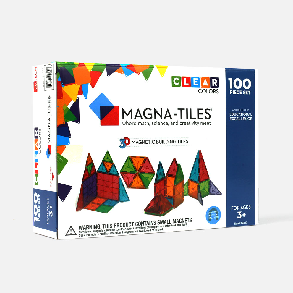 Magna-Tiles Clear Colors 100