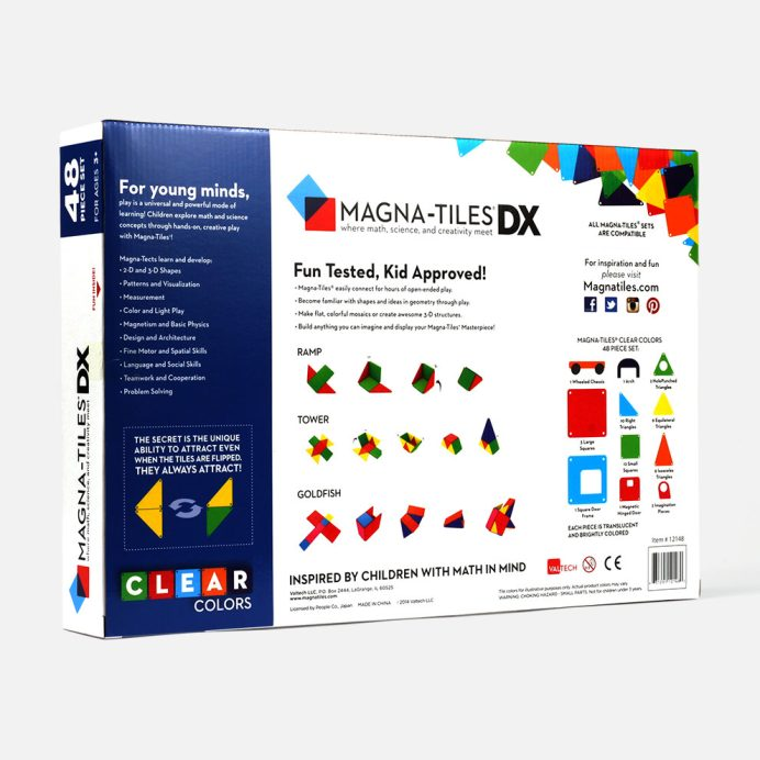 Magna-Tiles Clear Colors 48