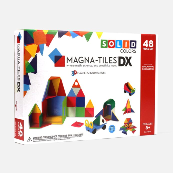 Magna-Tiles Solid Colors 48